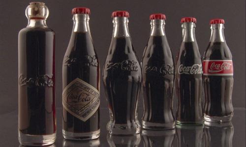 Evolución de la botella clásica de Coca Cola