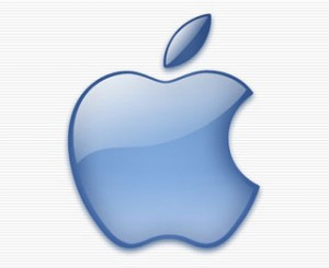 Logo de Apple monocromo