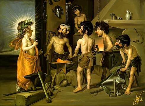 Velázquez. La fragua de Vulcano