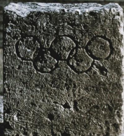 Piedra de Carl Diem en Delfos que generó falso mito | vía: Editorolimpico