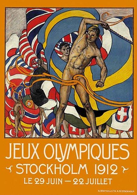 Cartel de los Juegos Olímpicos de Estocolmo, 1912