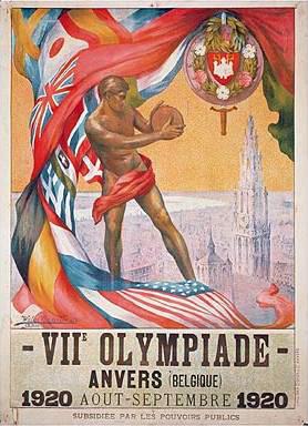 Cartel de los Juegos Olímpicos de Amberes, 1920
