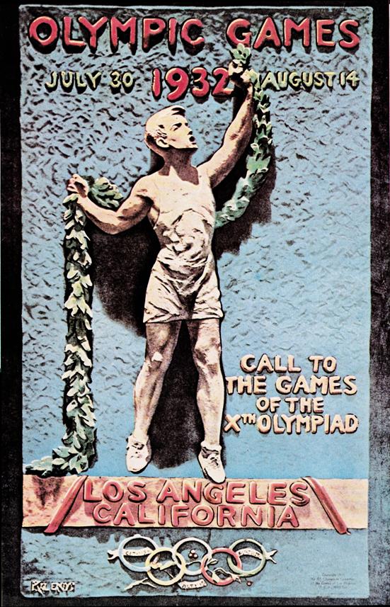 Cartel de los Juegos Olímpicos de Los Ángeles, 1932