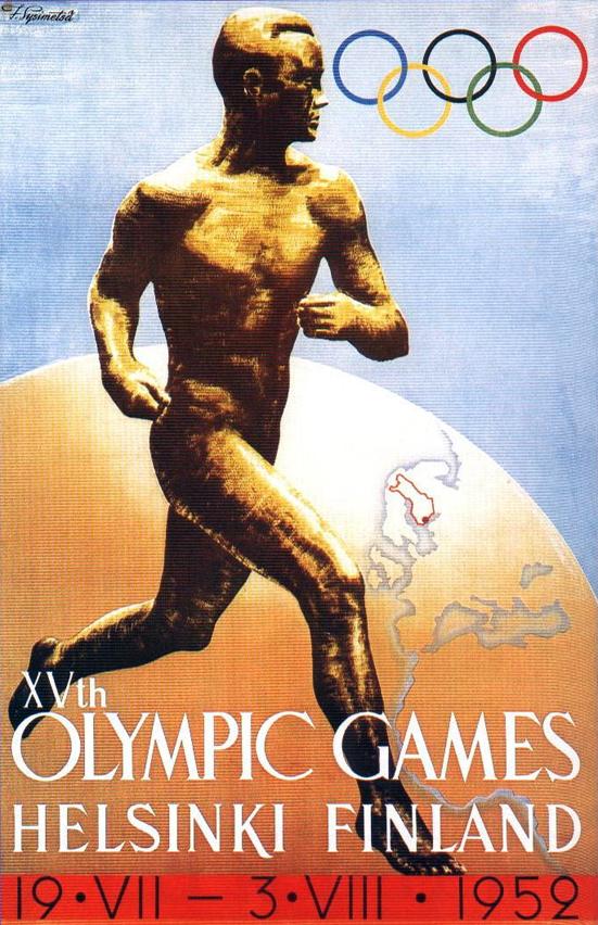 Cartel de los Juegos Olímpicos de Helsinki, 1952