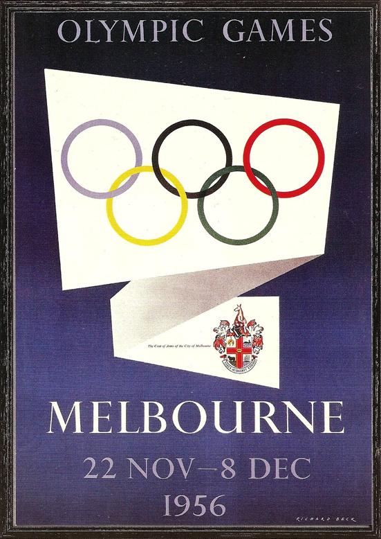Cartel de los Juegos Olímpicos de Melbourne, 1956