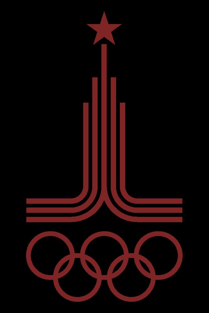 Cartel de los Juegos Olímpicos de Moscú, 1980