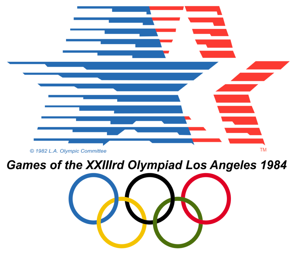Cartel de los Juegos Olímpicos de Los Ángeles, 1984