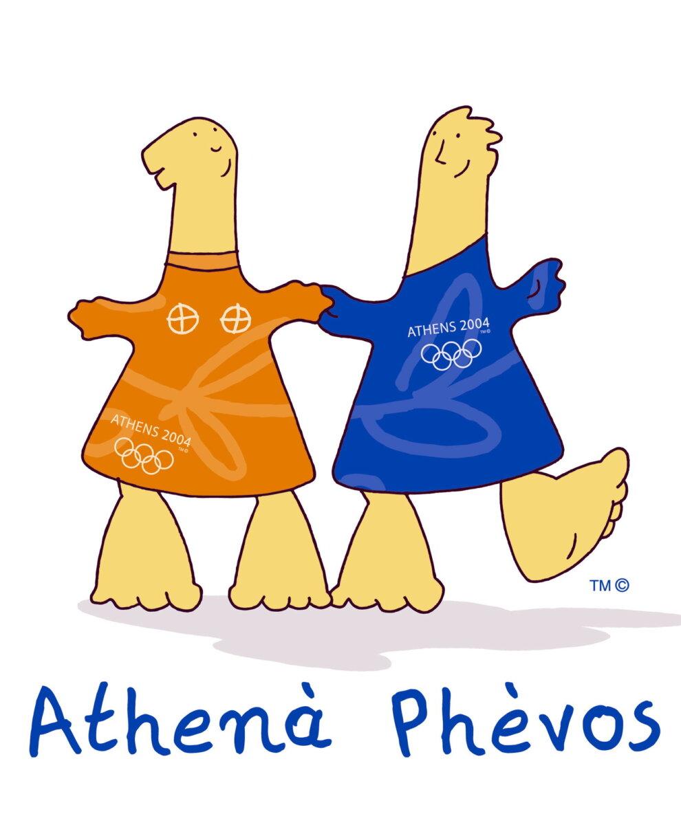 Athenas y Phevos, las mascotas de los Juegos Olímpicos de Atenas, 2004