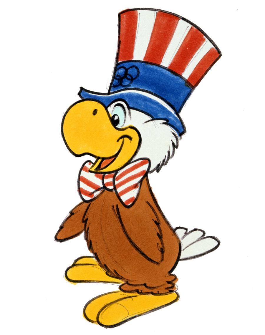 Sam, la mascota de los Juegos Olímpicos de Los Ángeles, 1984