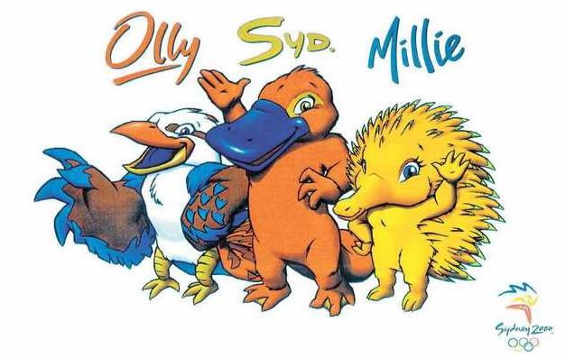Olyy, Syd y Millie, las mascotas de los Juegos Olímpicos de Sídney, 2000