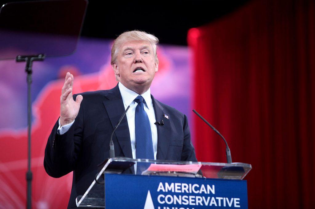 Donald Trump hablando en la CPAC 2015