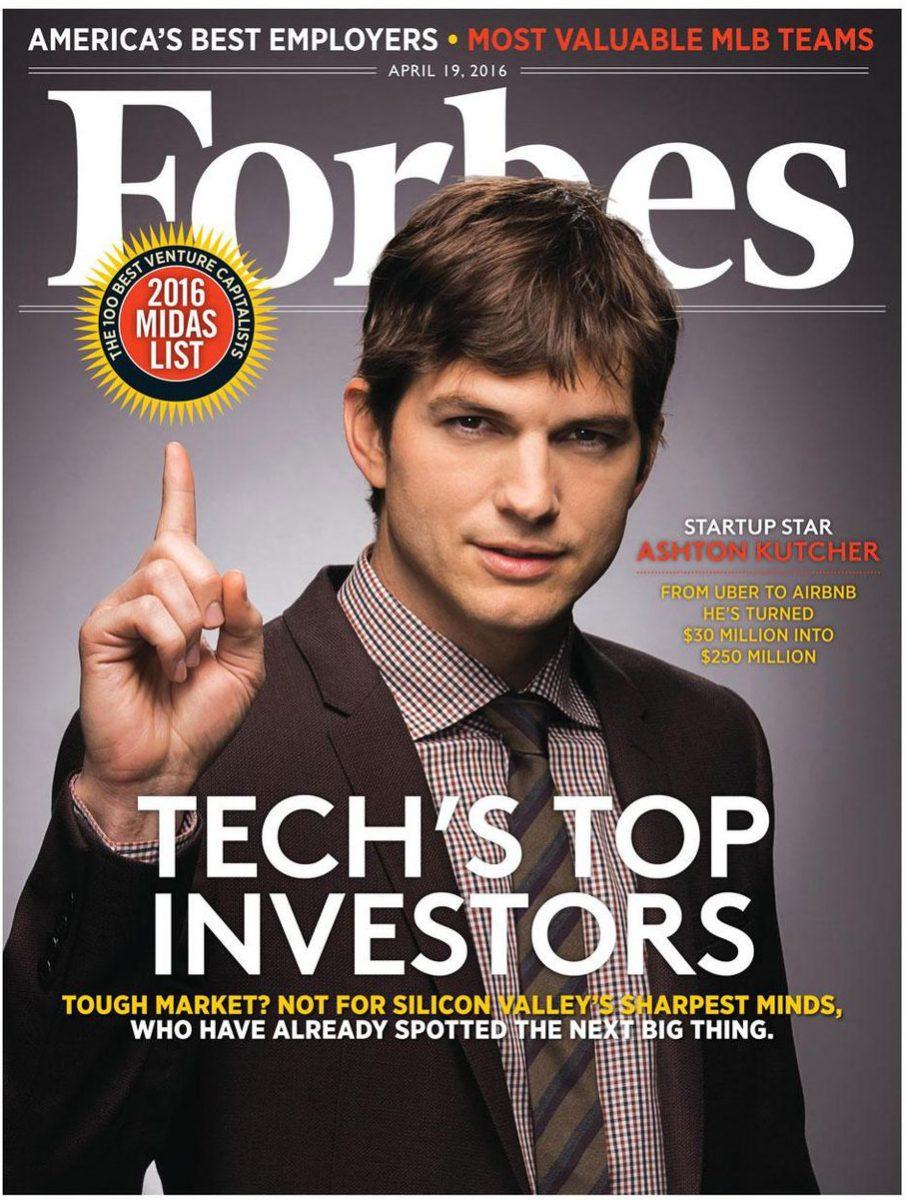 Ashton Kutcher en Forbes