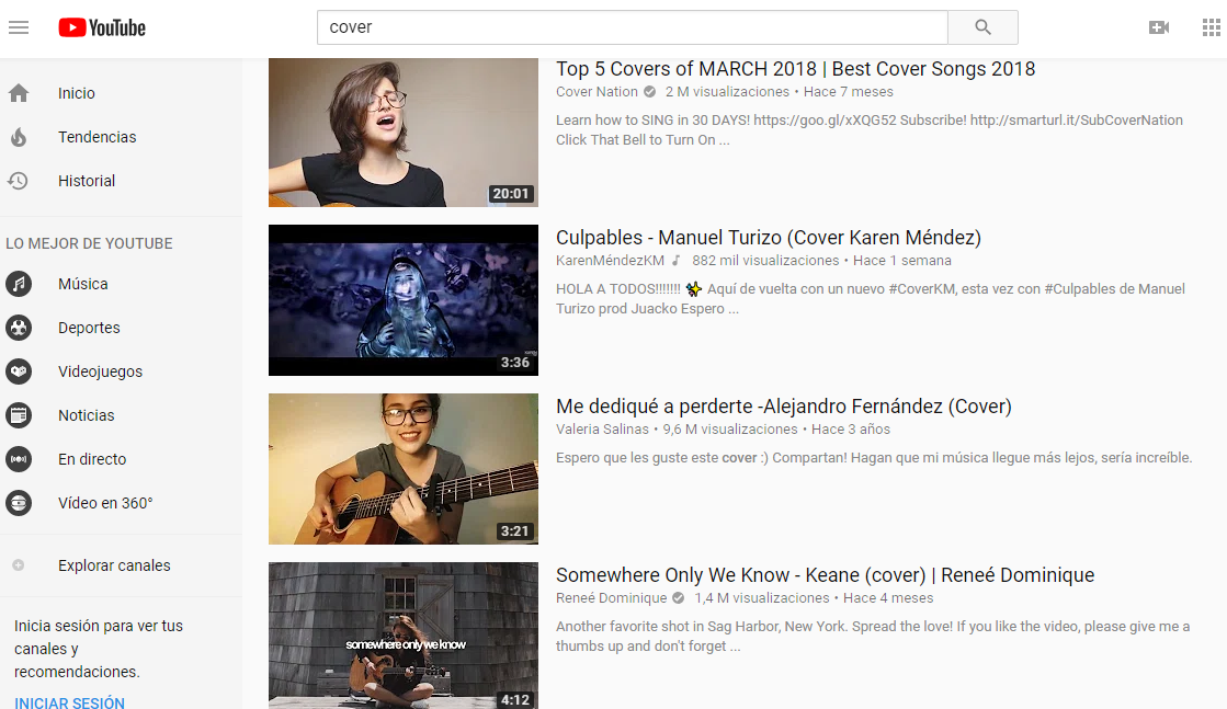 YouTube Covers