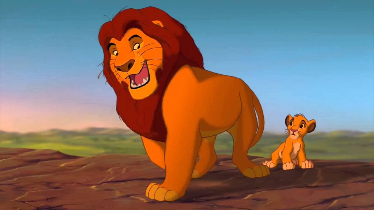 Mufasa y Simba en el Rey León
