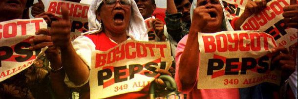 Protesta contra Pepsi en Filipinas