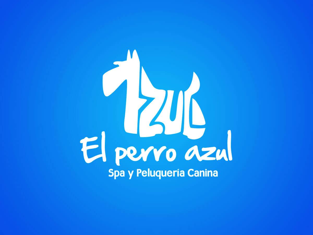 Diseño profesional de logo para El Perro Azul