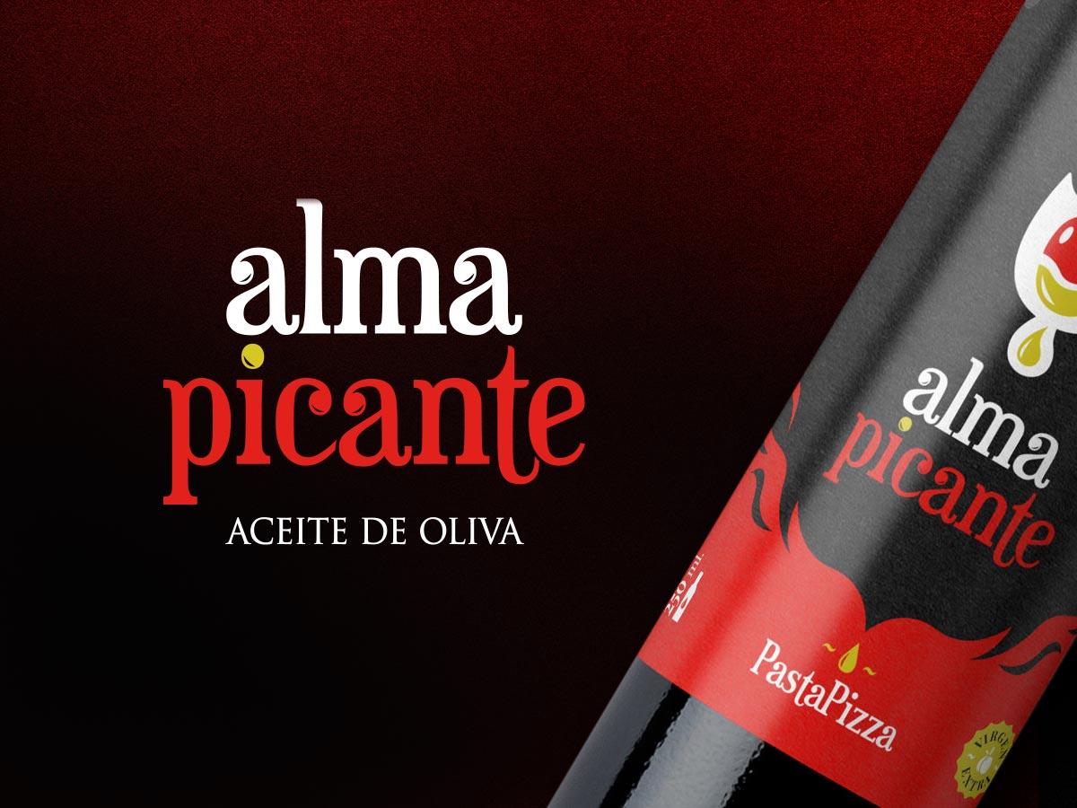 Naming, diseño de logo y etiqueta para Alma Picante