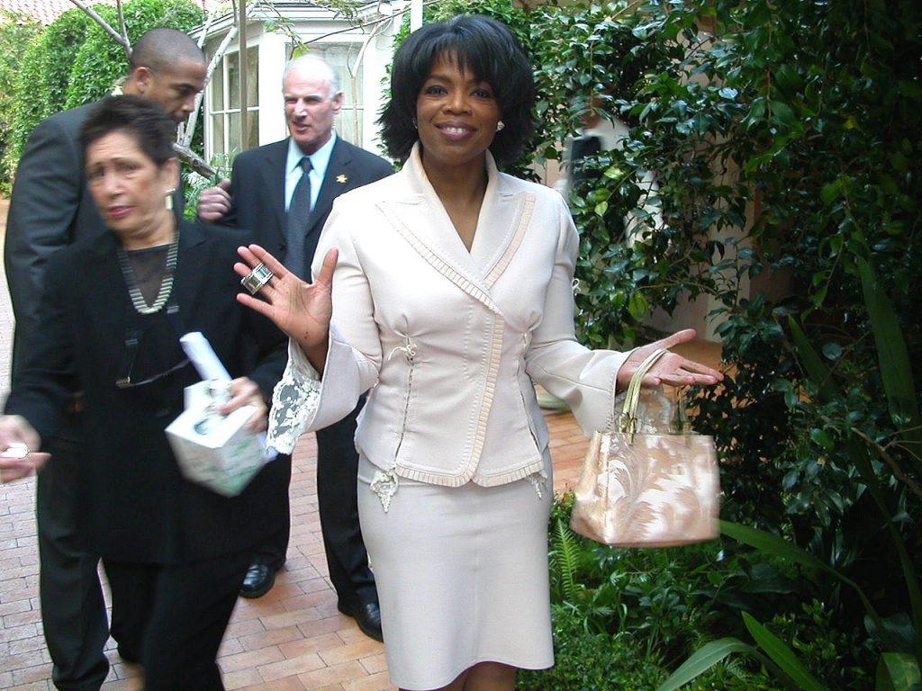 Oprah en la celebración de sus 50 años de edad