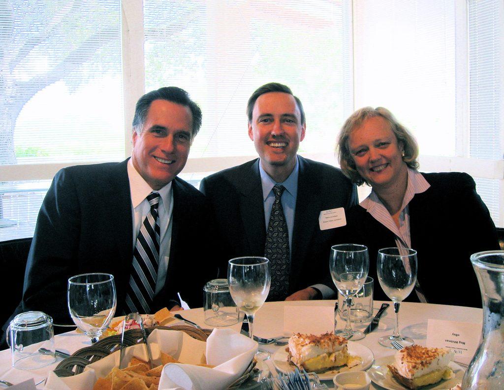 Mitt Romney Steve Jurvetson y Meg Whitman