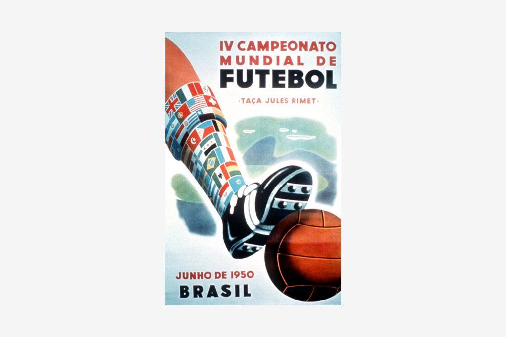 Cartel del Mundial de fútbol Brasil 1950