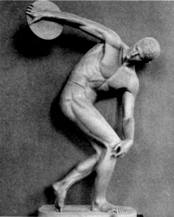 Versión restaurada del Discóbolo de Mirón hecha en Munich | Vía: wikimedia.org