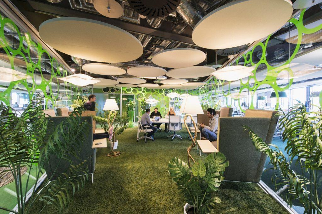 Otra mirada de las oficinas de Google en Dublin