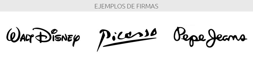 Ejemplo de firmas, isotipo logotipo
