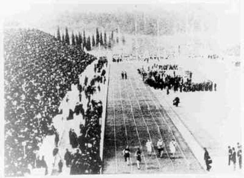 Final 100 m Athens 1896 | vía: wikimedia.org