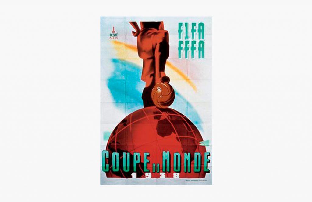 Cartel del Mundial de Francia 1938.