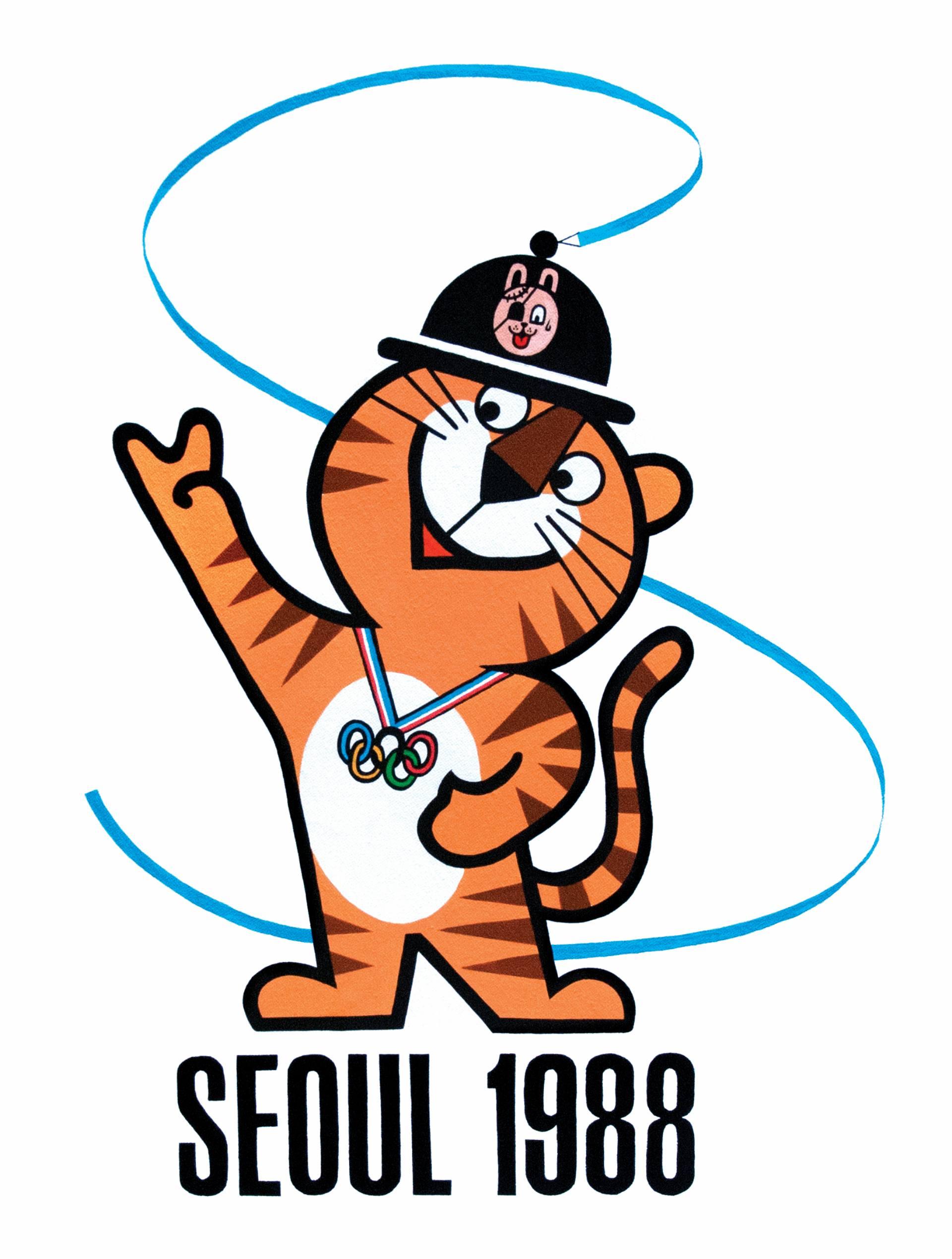Hodori, la mascota Olímpica de Seúl, 1988