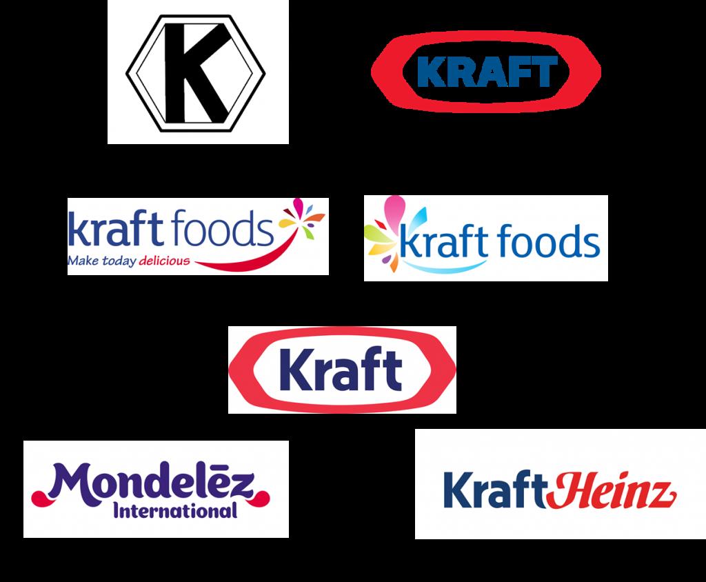 evolución de los logos de kraft
