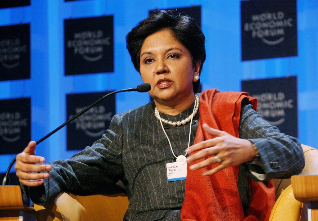 Indra Nooyi en el Foro Económico Mundial