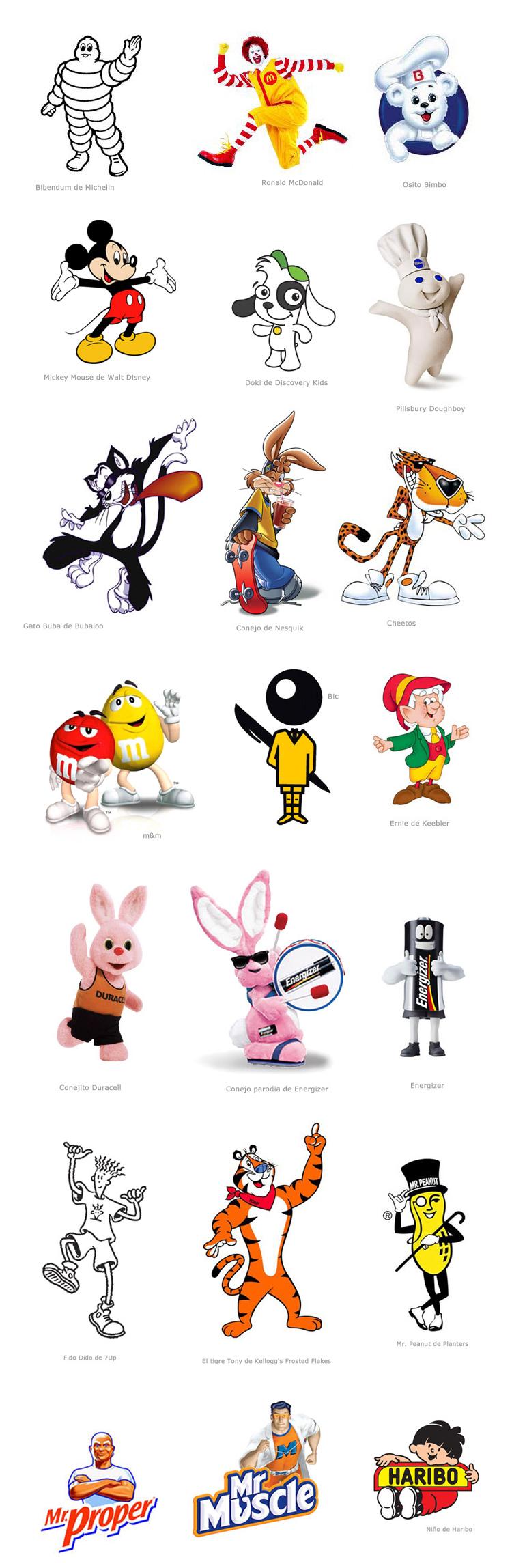 Las mascotas publicitarias