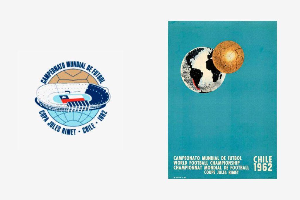 Logo y cartel del Mundial de Chile 1962