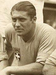 Giuseppe Meazza jugador de la selección italiana