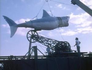 Tiburón mecánico utilizado para la película Tiburón