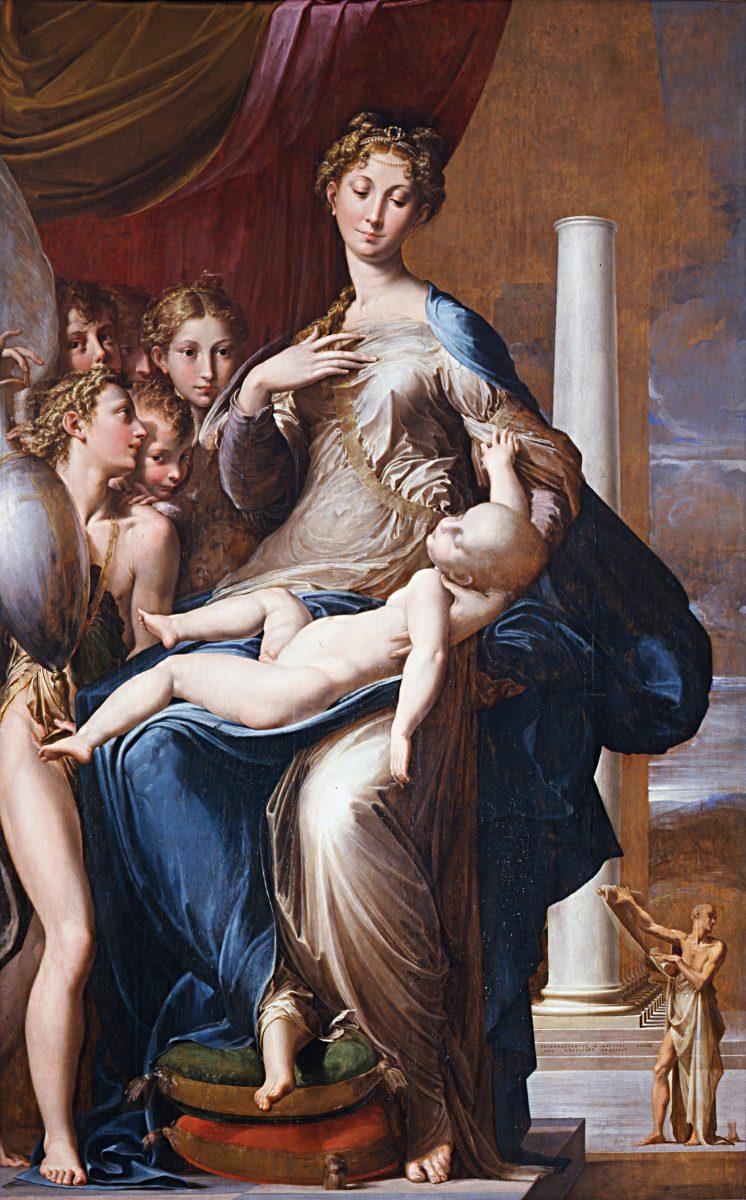 La virgen del cuello largo