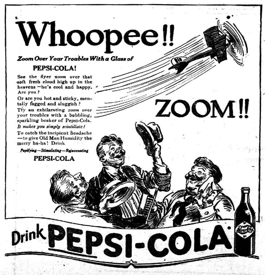 Anuncio de Pepsi-Cola en 1919