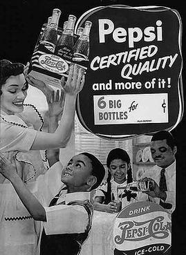 Anuncio interracial de Pepsi-Cola en los 40s
