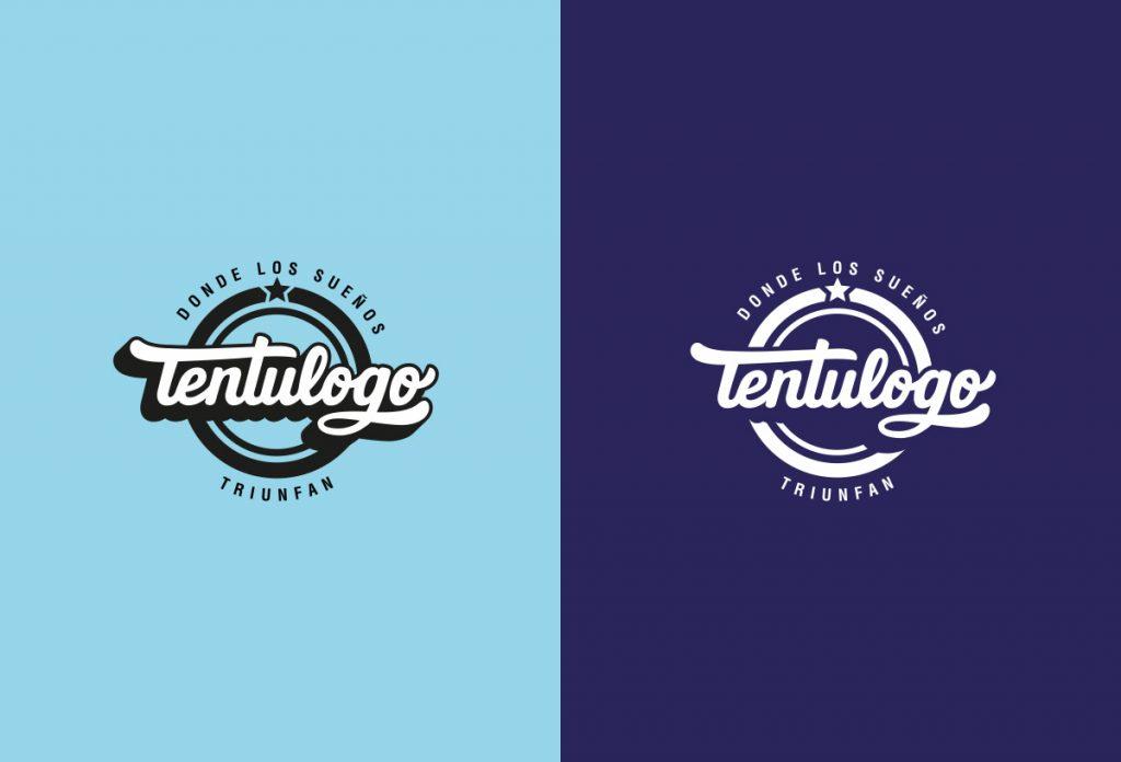 Logo de Tentulogo en positivo y negativo