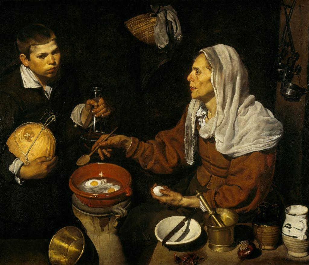 Vieja friendo huevos | Diego Velázquez