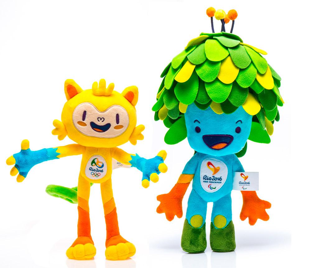 Vinicius y Tom, las mascotas Olímpicas de Río, 2016