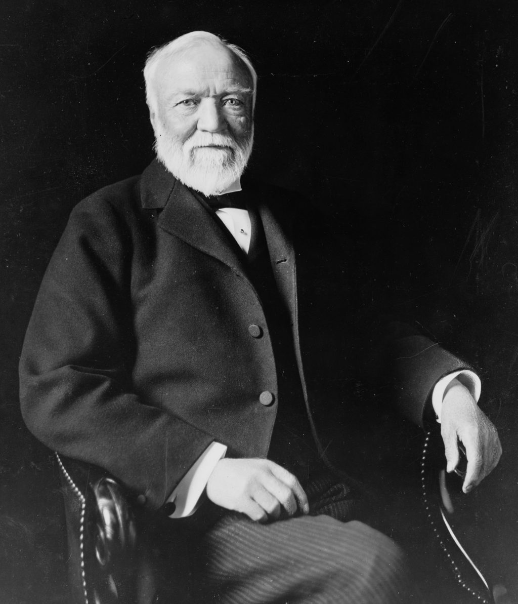 Retrato de Andrew Carnegie