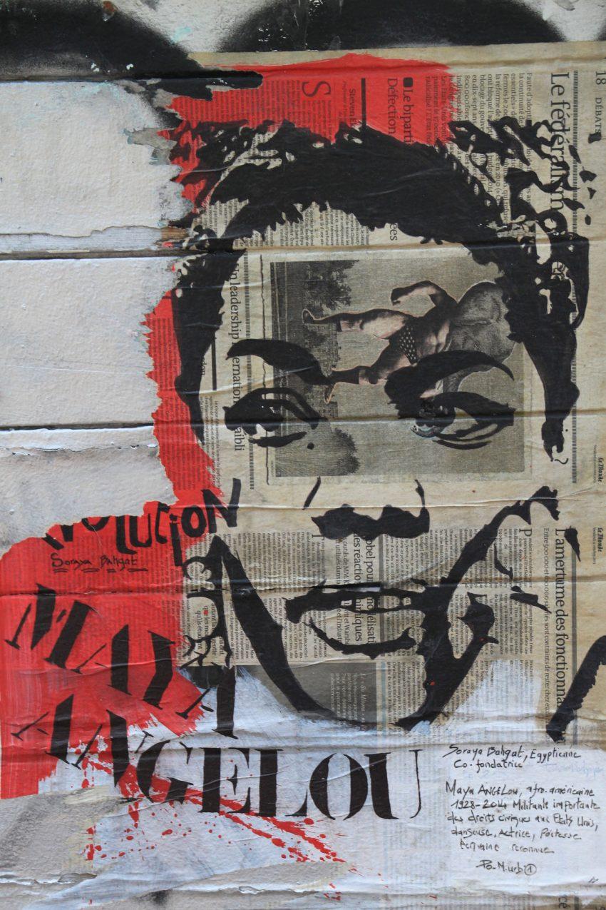 Maya Angelou en las calles de Marsella