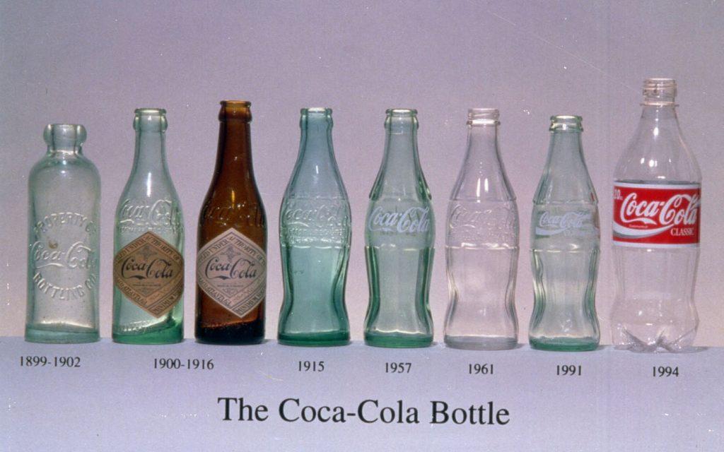 Evolución botella de Coca Cola