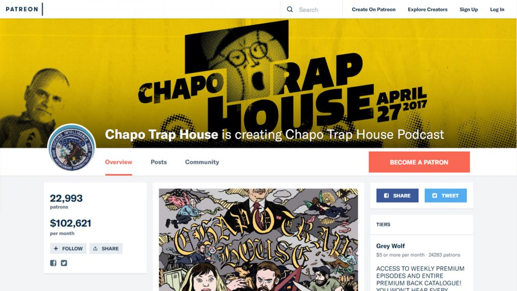 Chapo Trap House en Patreon