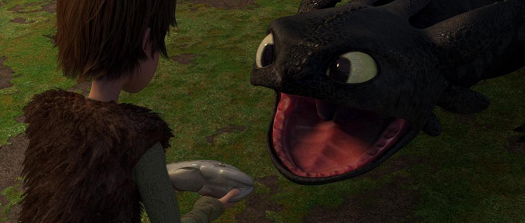Escena de Cómo entrenar a tu dragón