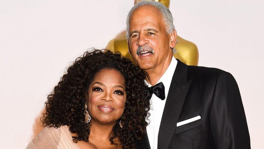 Oprah junto a su novio, Stedman Graham