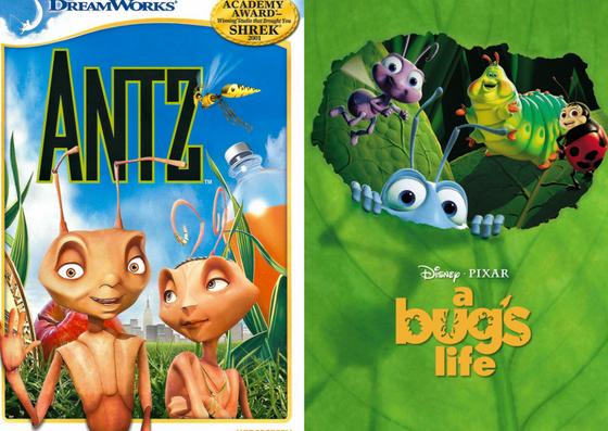 Póster de DreamWorks y Disney Pixar de Antz y Bichos
