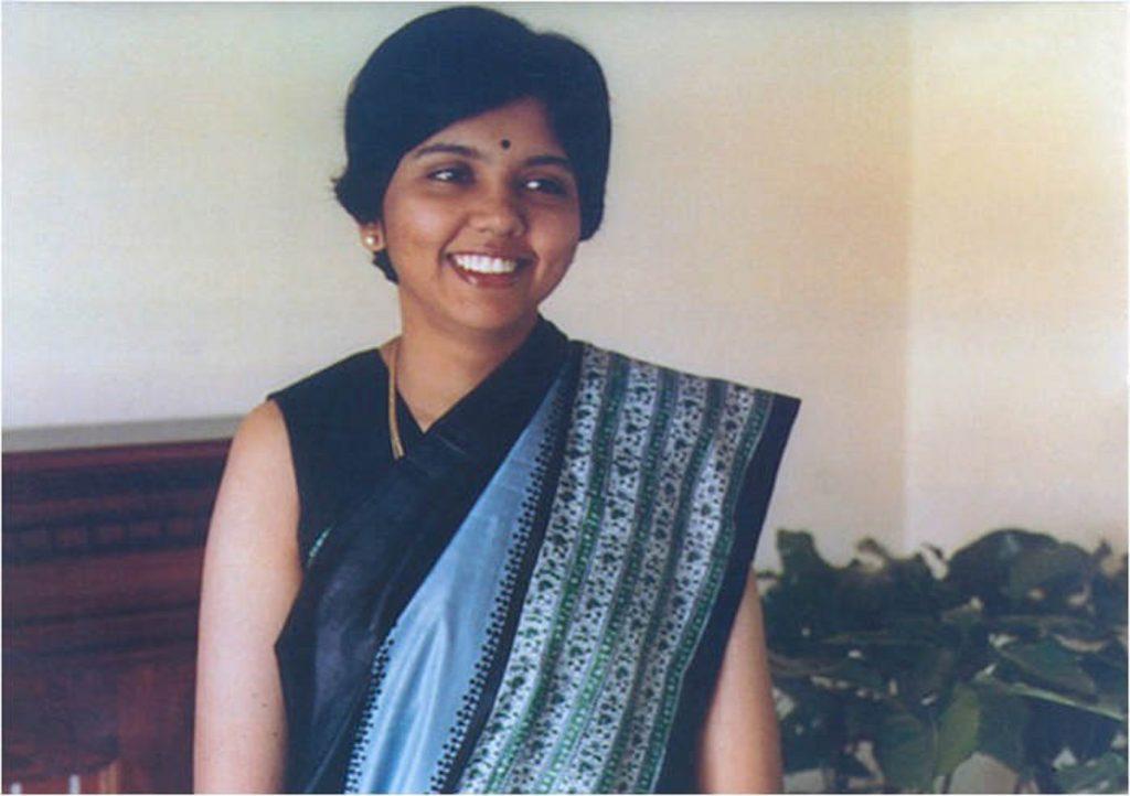 Indra Nooyi en su época universitaria